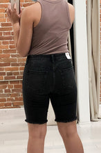Load image into Gallery viewer, Herman Long Shorts in Distressed Black