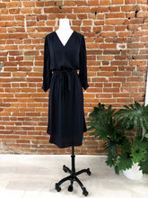 Load image into Gallery viewer, Angela Midi Dress in Navy - FINAL SALE