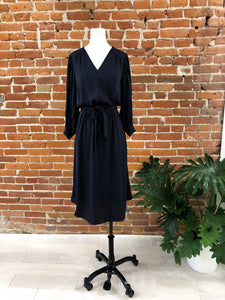Angela Midi Dress in Navy - FINAL SALE
