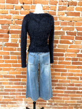 Load image into Gallery viewer, Trina Fuzzy Wrap Sweater in Navy - FINAL SALE