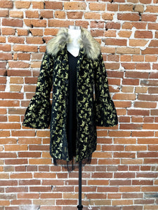 Coquito Coat with Fur Trim