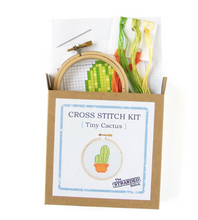 Load image into Gallery viewer, Mini Tiny Cactus  DIY Cross Stitch Kit