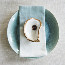 Load image into Gallery viewer, Gold Gilded Oyster Ring Dish