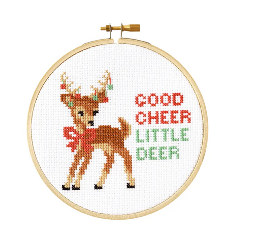 Good Cheer DIY Cross Stitch Kit - FINAL SALE