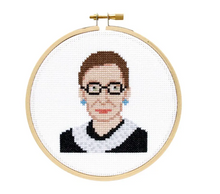 Load image into Gallery viewer, Ruth Bader Ginsburg DIY Cross Stitch Kit