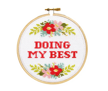 Load image into Gallery viewer, Doing My Best DIY Cross Stitch Kit