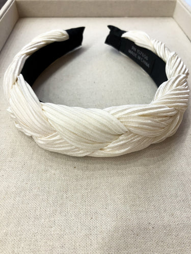 Veronica Braided Headband in Ivory