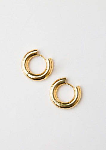 Candongas Medium Gold Hoops
