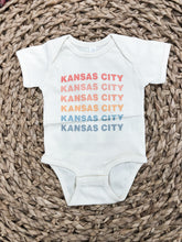 Load image into Gallery viewer, Kansas City Rainbow Tee in Pastels - INFANT ONESIE
