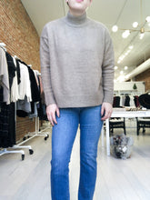 Load image into Gallery viewer, Nessa Turtleneck Sweater in Taupe
