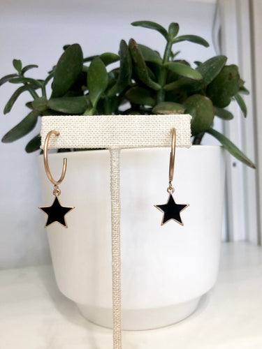 Like a Star Hoops in Black