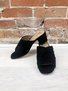 Hilary Strap High Heel Mule in Black
