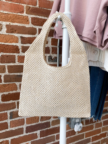 Market Tote in Ivory