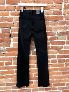 Jane Flare Black Denim