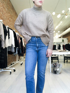 Nessa Turtleneck Sweater in Taupe