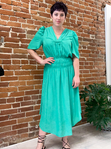 Sylvia Dress in Emerald