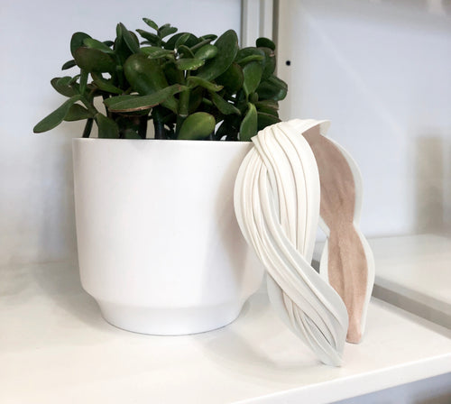 Wave Headband in Ivory