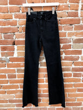 Load image into Gallery viewer, Jane Flare Black Denim