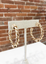 Load image into Gallery viewer, Lombard Rope Hoop Earrings in Gold