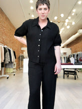 Load image into Gallery viewer, Maliyah Button Down Top in Black