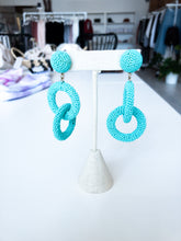 Load image into Gallery viewer, Thurman Double Drop Earrings in Turquoise