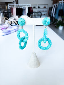 Thurman Double Drop Earrings in Turquoise