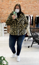 Load image into Gallery viewer, Adrianna Faux Leopard Coat