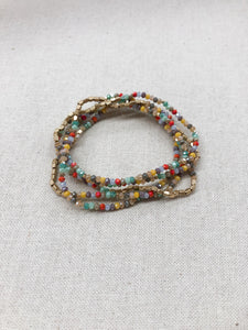 Myles 5 Row Bracelet in Multi