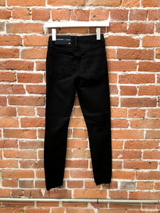 Danny High Rise Destroyed Skinny Jean in Black