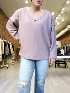Kayson Top in Dusty Lavender - FINAL SALE