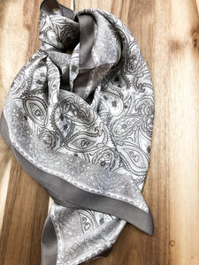 Noelle Scarf in Pewter