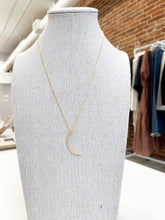 Load image into Gallery viewer, Waning Moon Pave Necklace