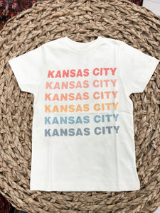 Kansas City Rainbow Tee in Pastels - KIDS