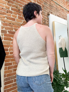 Vivica Sweater Tank in Taupe