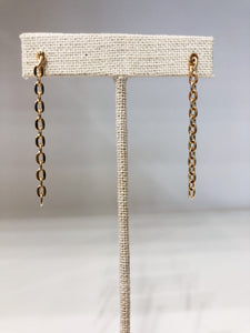 Amani Chain Earrings in Gold