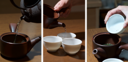 Japanese Tea Brewing Pouring