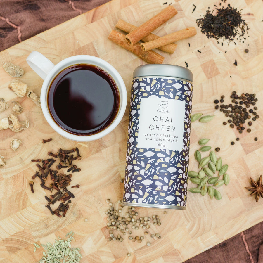 Chai Cheer | Premium Loose Leaf Chai Tea | Chai Spices | Gachi
