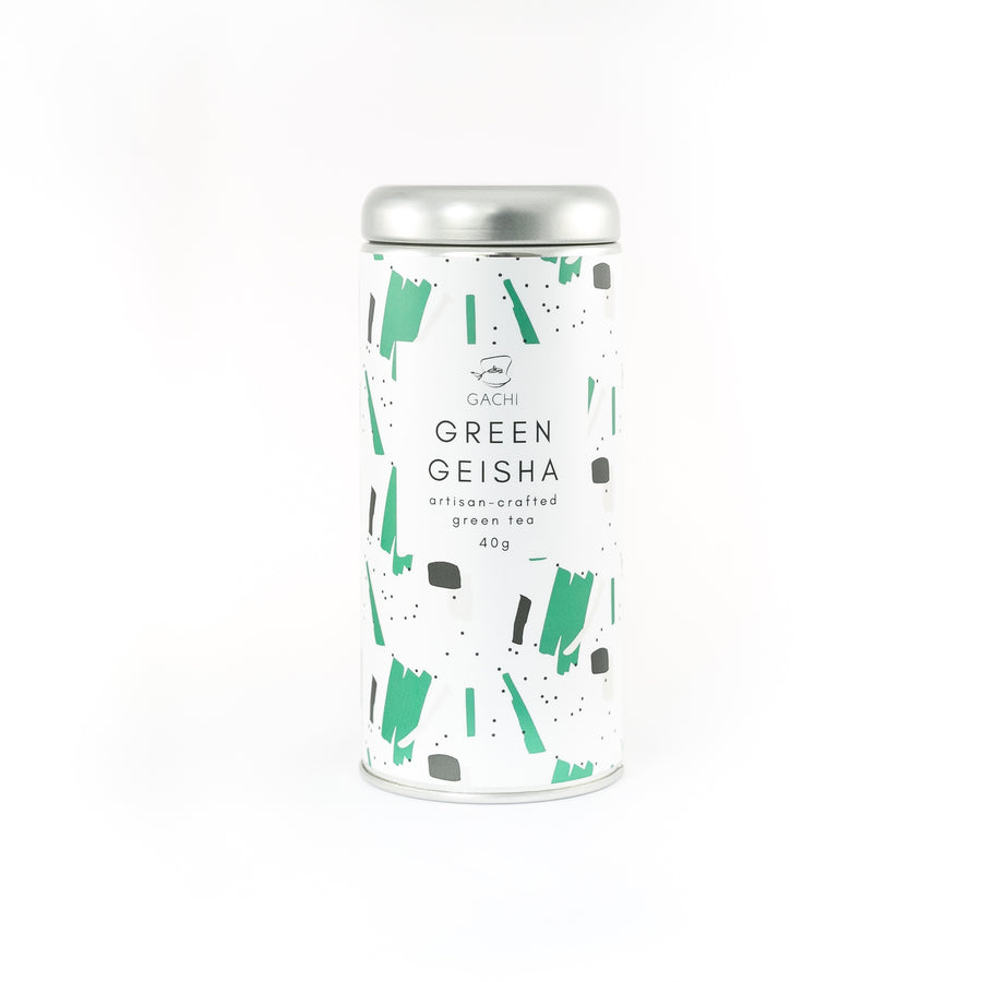 Green Geisha | Premium Genmaicha Green Tea | Design Tin | Gachi