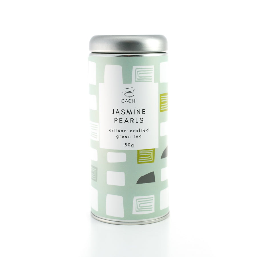 Jasmine Pearls | Premium Green Tea | Gachi | Design Tin