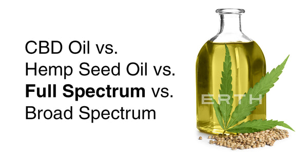 What the difference between Hemp Seed Oil, CBD Oil & Full Spectrum CBD Oil