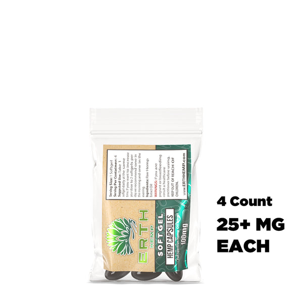 Raw Full Spectrum CBD Oil Extract Softgels - 4ct Sample