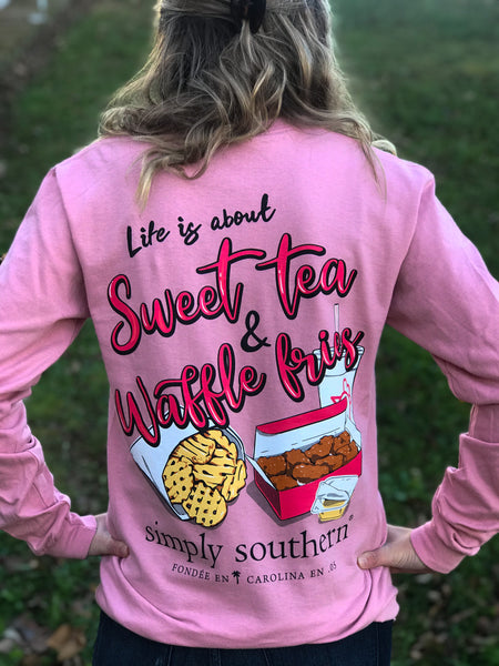 Simply Southern Sweet Tea and Waffle Fries