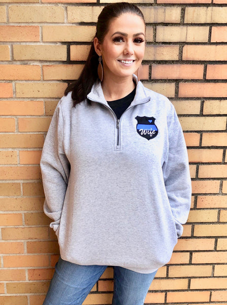 Thin Blue Line 3/4 sweatshirt