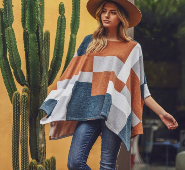 Oakley Color Block Poncho Top
