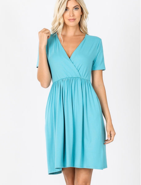 Kendra Dress in Ash Mint