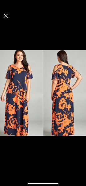 Nora Maxi Dress with Cold Shoulder