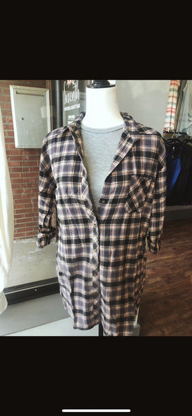 Peach Gray Flannel