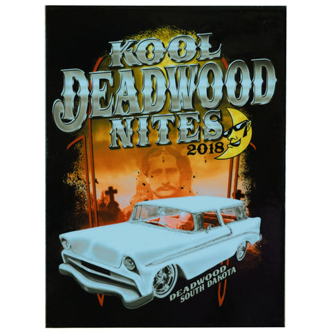 Kool Deadwood Nites 2018 Car Show Dash Plaque