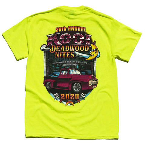 Kool Deadwood Nites 2020 T-Shirt Neon Yellow