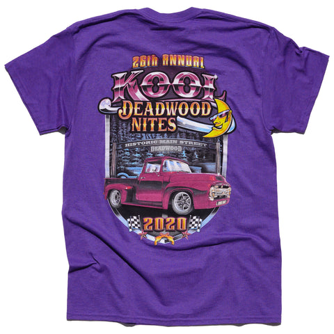 2020 Kool Deadwood Nites Official T-Shirt Purple